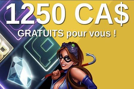 Casino bonus en dollar Canadien