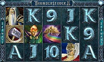 Thunderstruck II - Une des machines à sous qui paye plus sur Internet