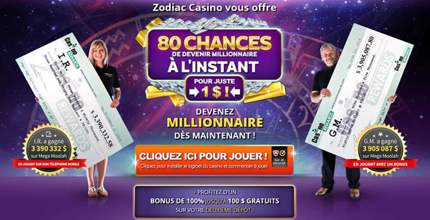 Gagner le jackpot avec Zodiac Casino au Québec