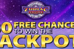 Zodiac Mega Moolah casino - 80 tours gratuits pour 1 CAD