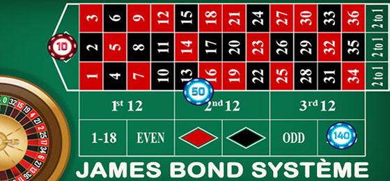 Système James Bond pour gagner à la roulette