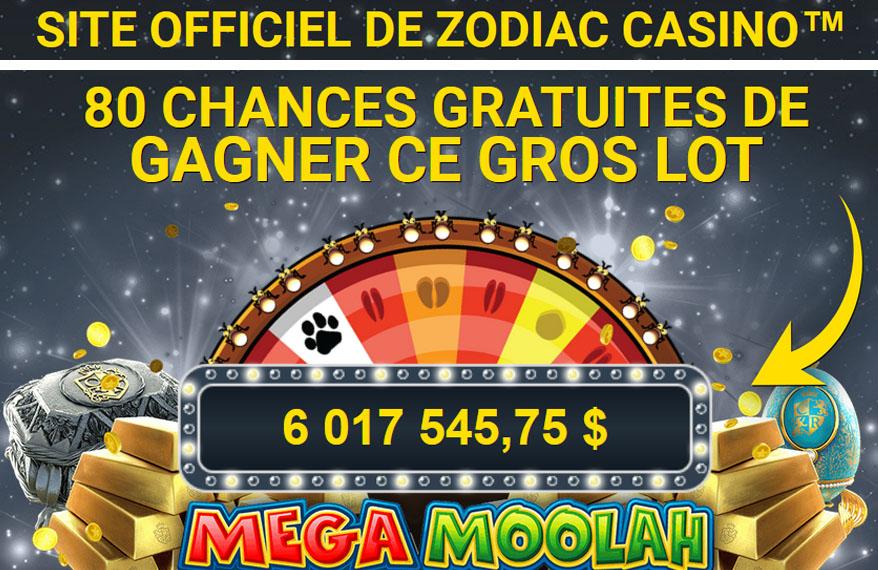 Zodiac Casino Jackpot à Gagner maintenant